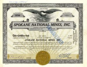 Spokane National Mines, Inc.
