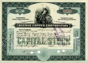 Bagdad Copper Corporation - Stock Certificate