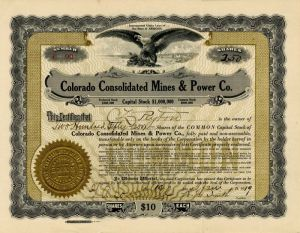 Colorado Consolidated Mines & Power Co.
