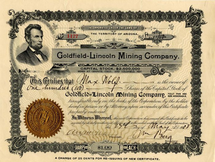 Goldfield-Lincoln Mining Company