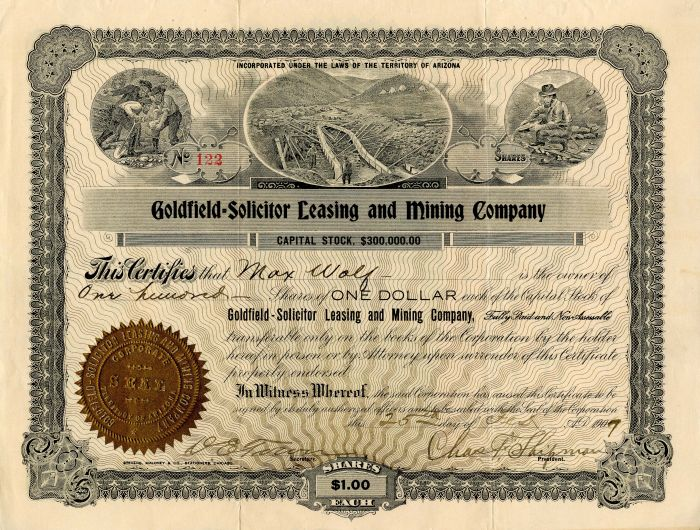 Goldfield-Solicitor Leasing and Mining Company