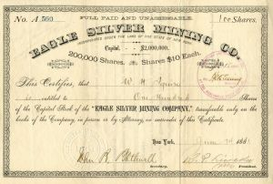 Eagle Silver Mining Co. - Stock Certificate