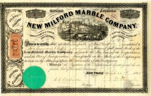 New Milford Marble Company - Stock Certificate