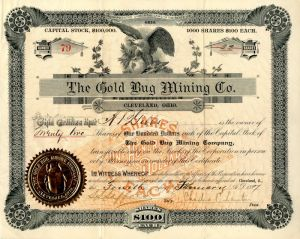 Gold Bug Mining Co. - Stock Certificate