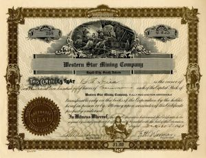 Western Star Mining Company - Stock Certificate