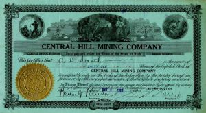 Central Hill Mining Company - Stock Certificate