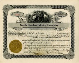 North Standard Mining Company - Stock Certificate