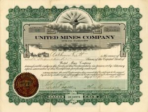 United Mines Company - Stock Certificate