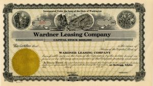 Wardner Leasing Company - Stock Certificate