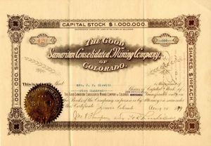 Good Samaritan Consolidated Mining Company of Colorado - Stock Certificate