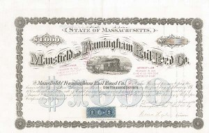 Mansfield and Framingham Railroad - Bond