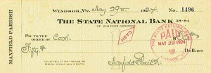 Maxfield Parrish - Great Signed Check - SOLD