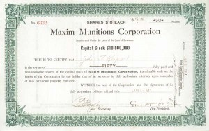 Maxim Munitions Corp
