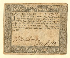 Colonial Currency - FR MD-88