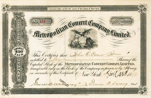 Metropolitan Concert Co, Ltd - SOLD