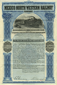 Mexico North Western Railway Company - £100