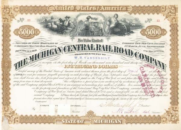 Cornelius Vanderbilt - Michigan Central Railroad