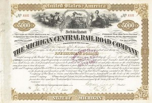 James C. Fargo - Michigan Central Railroad - Bond