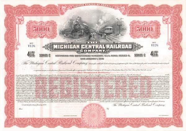 Michigan Central Railroad - Bond