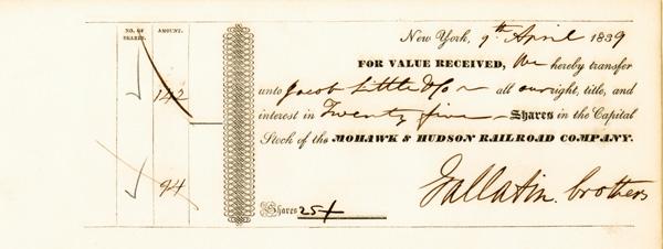 Gallatin Brothers - Mohawk & Hudson Railroad