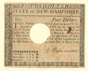 Colonial Currency - FR NH-182 - SOLD