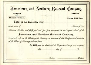 Jamestown and Northern Railroad Company