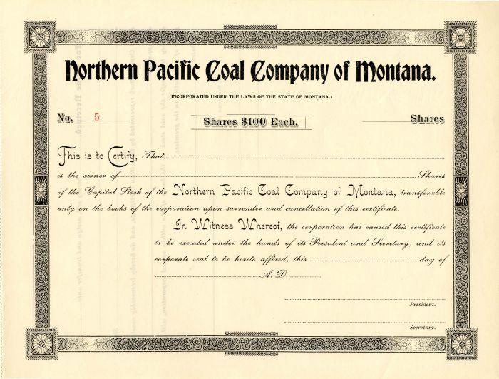 Northern Pacific Coal Company of Montana