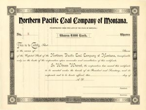 Northern Pacific Coal Company of Montana