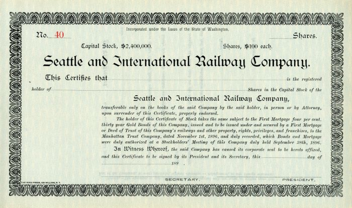 Seattle and International Railway Company