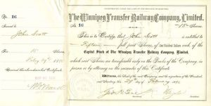 Winnipeg Transfer Railway Company, Limited - SOLD