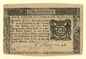 Colonial Currency - FR NY-186