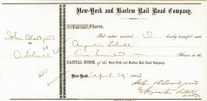 Augustus Schell - New York & Harlem Railroad Transfer