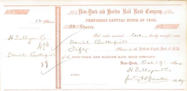 Daniel Butterfield - New York & Harlem Railroad
