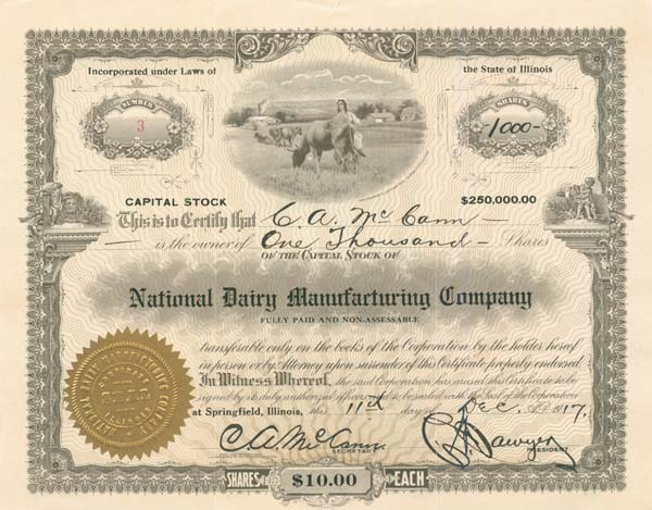 National Dairy Manufacturing Company - SOLD