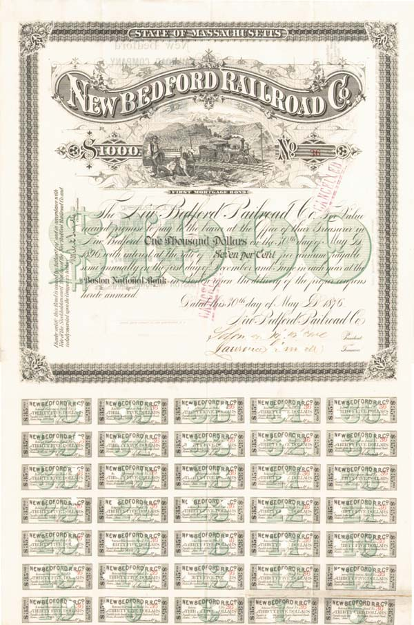 New Bedford Railroad - Bond