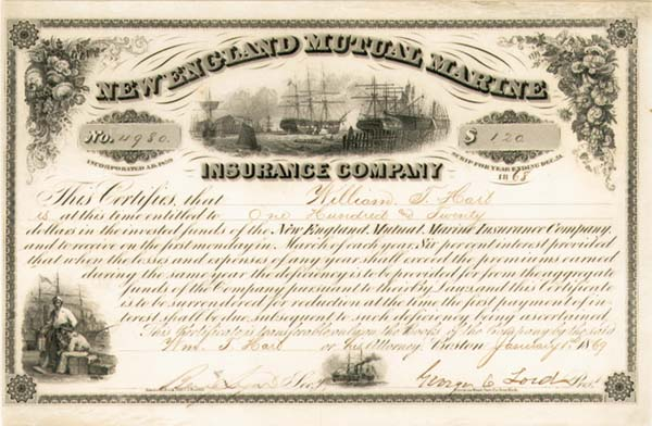 New England Mutual Marine Insurance Co - SOLD