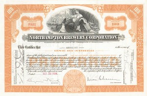 Northampton Brewery Corporation - Stock Certificate