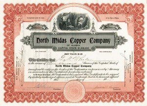 North Midas Copper Company of Alaska - Stock Certificate