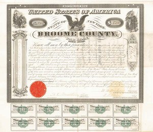 State of New York County of Broome-Civil War Loan Bond