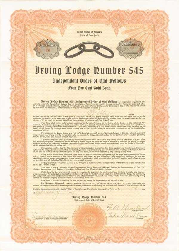 Odd Fellows Irving Lodge Number 545 - SOLD
