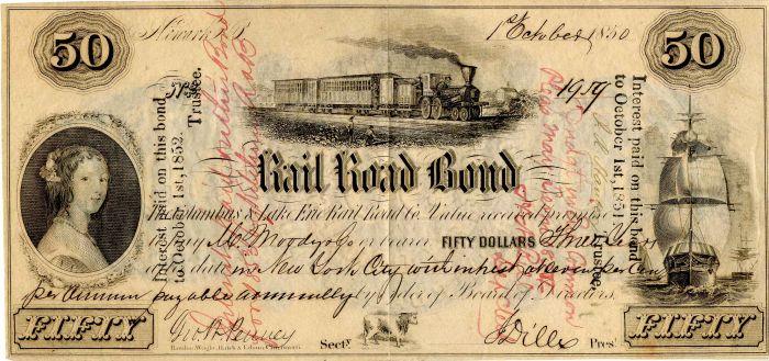 Columbus & Lake Erie Railroad Co. - Bond