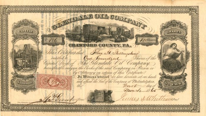 Glendale Oil Company - Stock Certificate