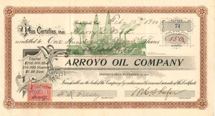 Arroyo Oil Company - Stock Certificate