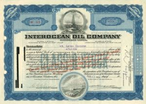 Interocean Oil Company - Stock Certificate