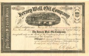 Jersey Well Oil Company - Stock Certificate