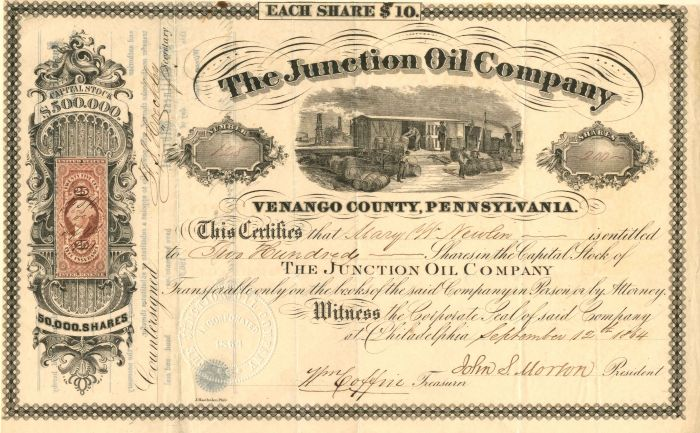 Junction Oil Company - Stock Certificate