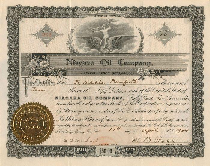 Niagara Oil Company - Stock Certificate
