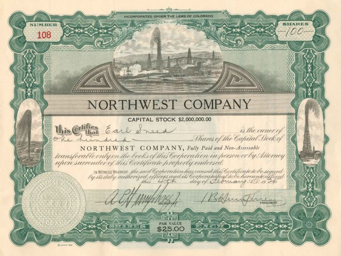 Northwest Company - Stock Certificate