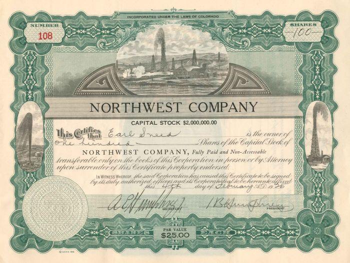 Northwest Company - Stock Certificate