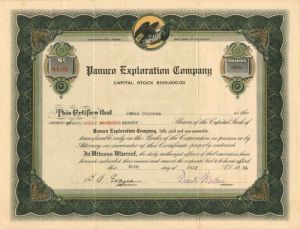 Panuco Exploration Company - Stock Certificate